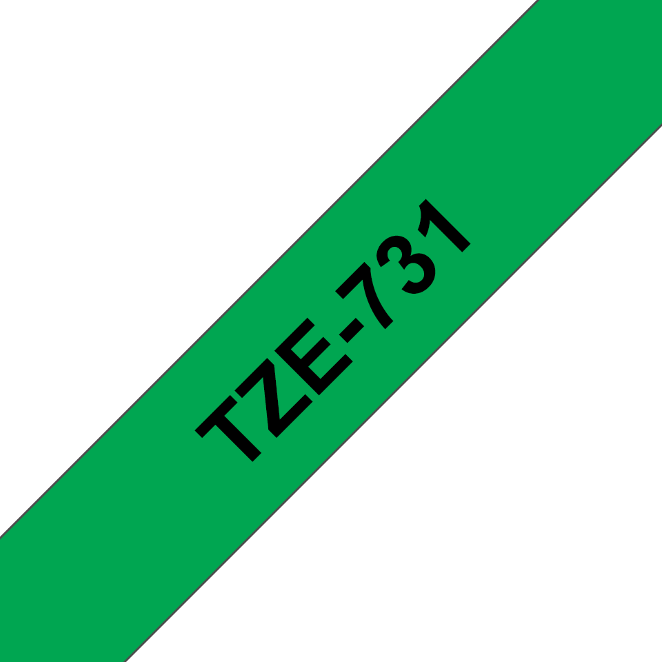 Brother TZe-731 Schriftband – schwarz auf grün 2