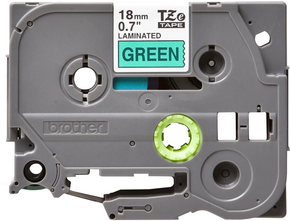 Brother TZe-741 Schriftband – schwarz auf grün 3