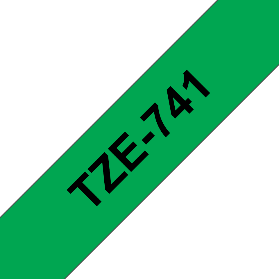 Brother TZe-741 Schriftband – schwarz auf grün 2