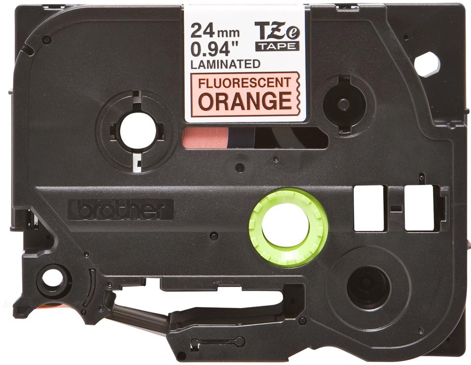 Brother TZe-B51 Schriftband – schwarz auf signal-orange 3