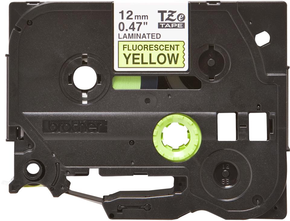 Brother TZe-C31 Schriftband – schwarz auf signal-gelb
