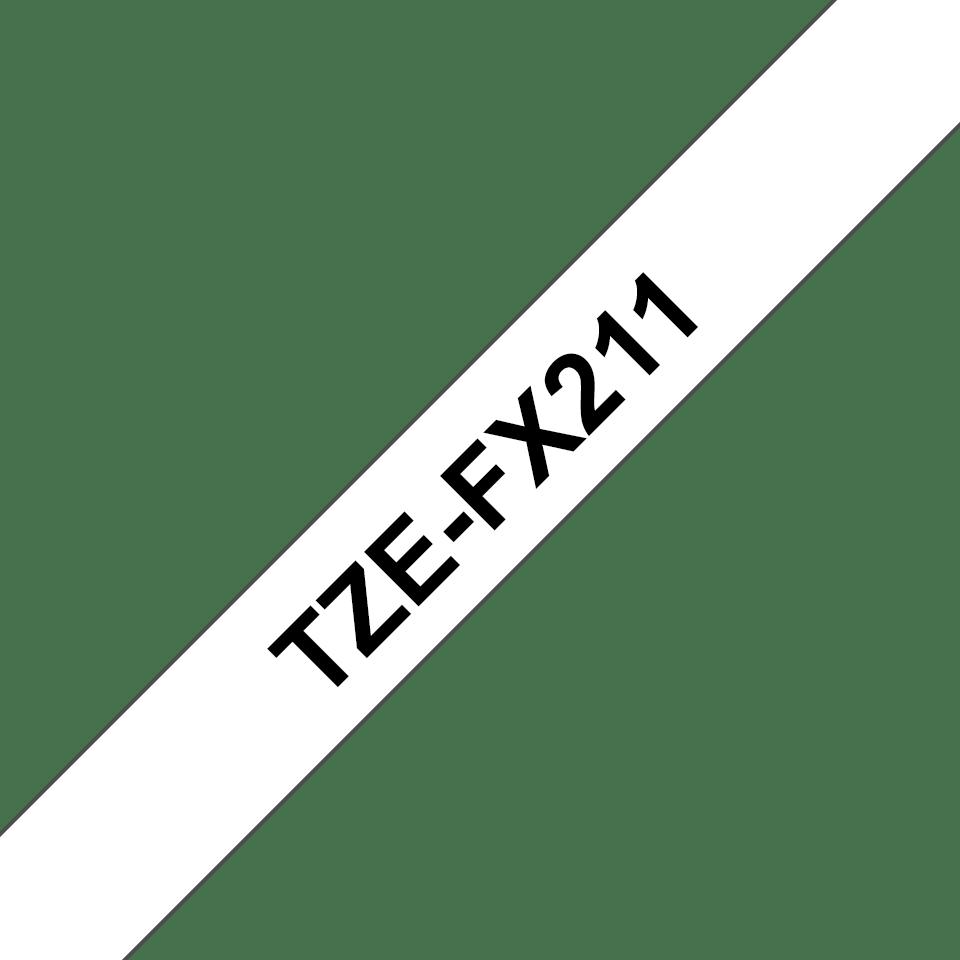 Brother TZe-FX211 Flexi-Tape – schwarz auf weiß 2