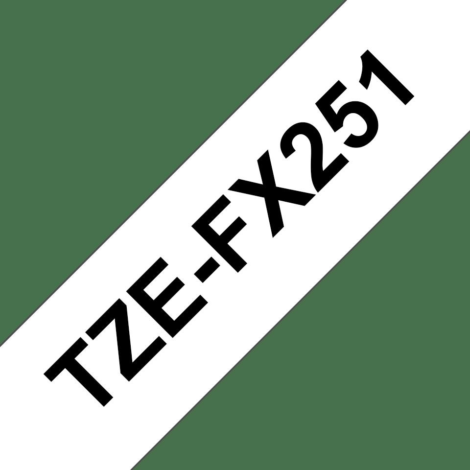 Brother TZe-FX251 Flexi-Tape – schwarz auf weiß 2
