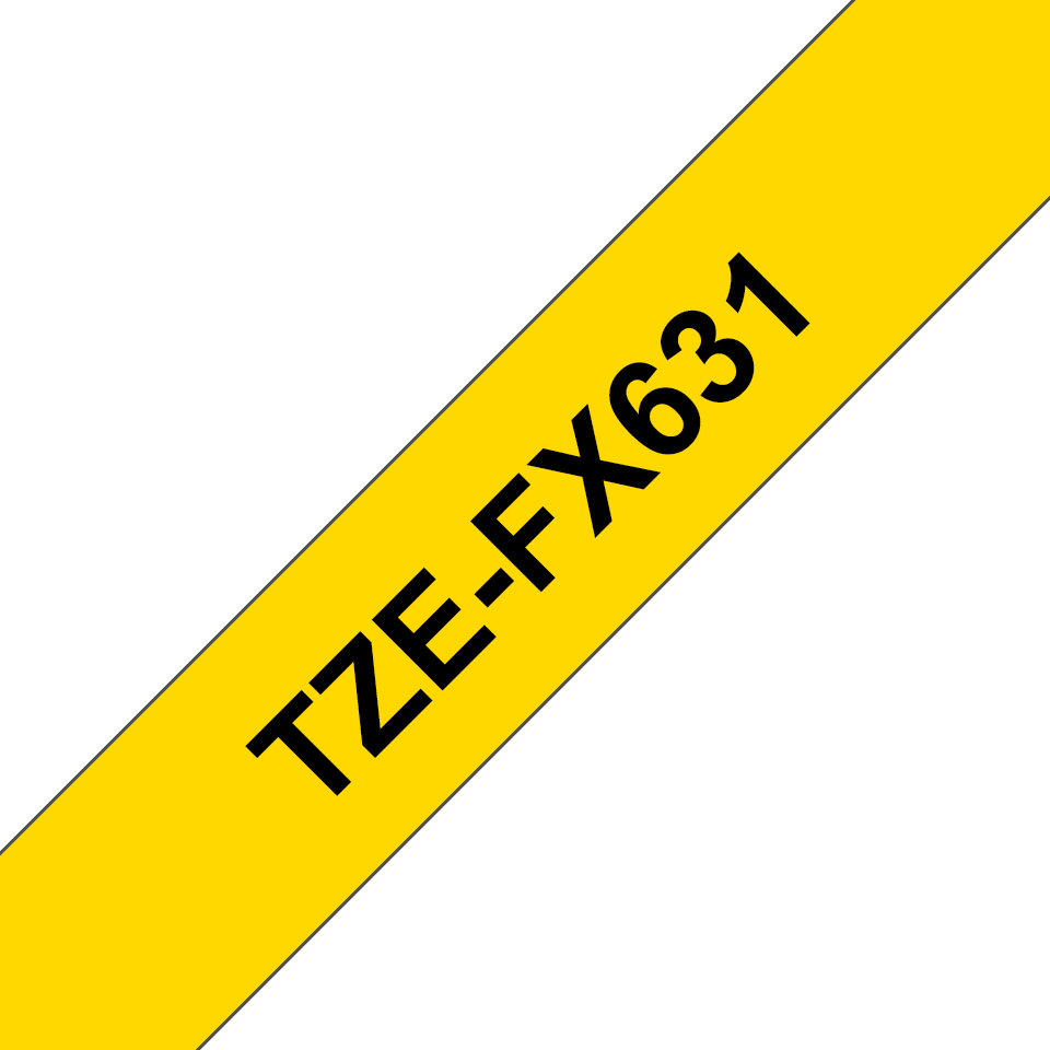 Brother TZe-FX631 Flexi-Tape – schwarz auf gelb 2