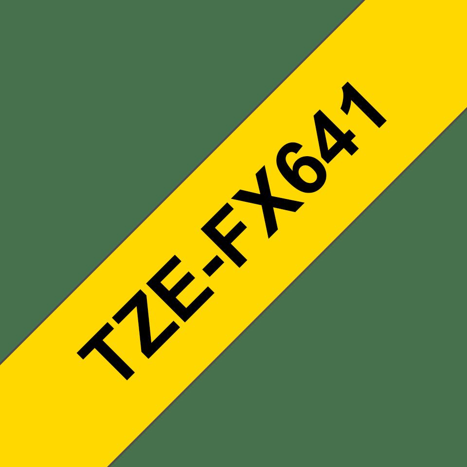 Brother TZe-FX641 Flexi-Tape – schwarz auf gelb 2