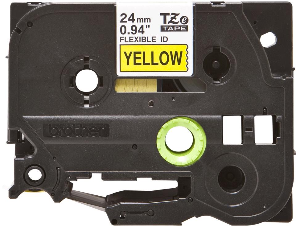 Brother TZe-FX651 Flexi-Tape – schwarz auf gelb 3