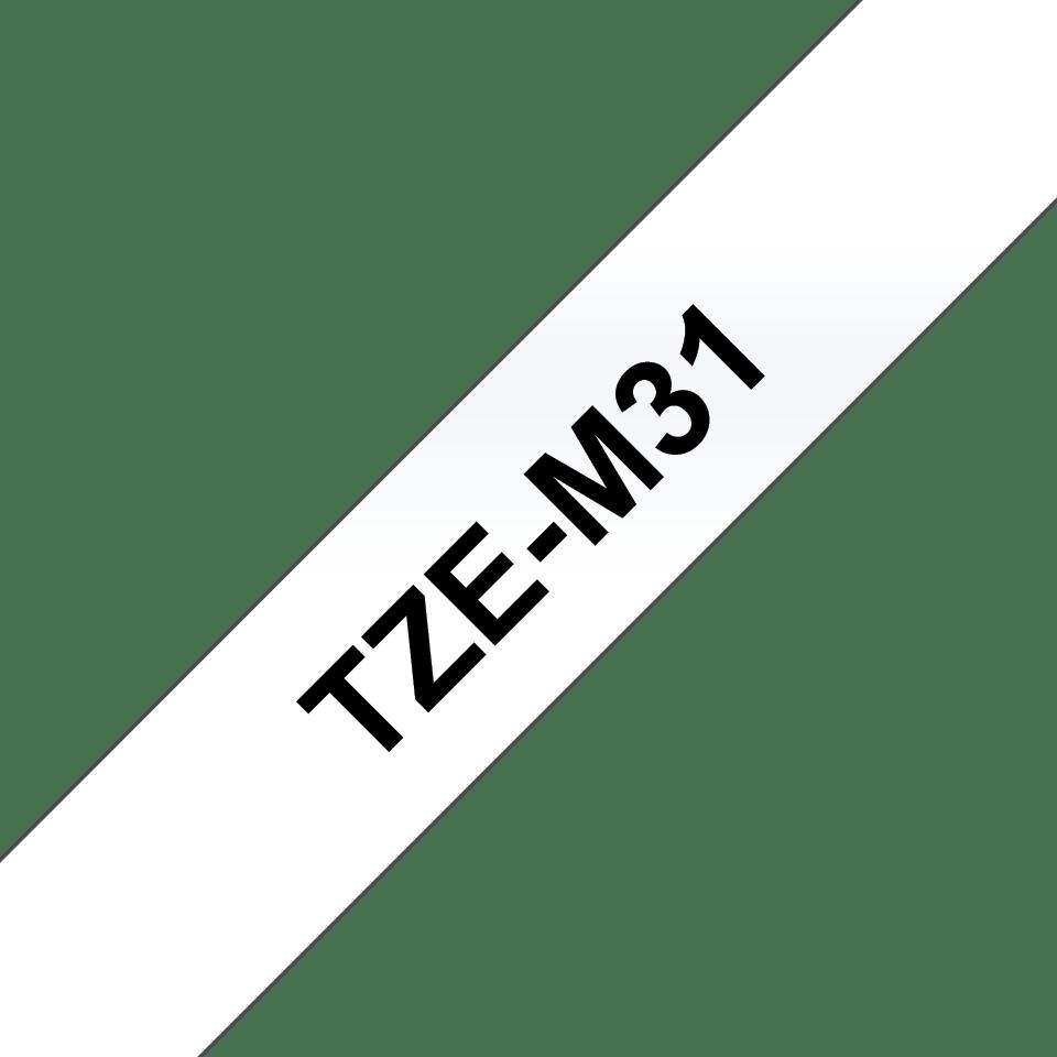 Brother TZe-M31 Schriftband – schwarz auf transparent (matt) 3
