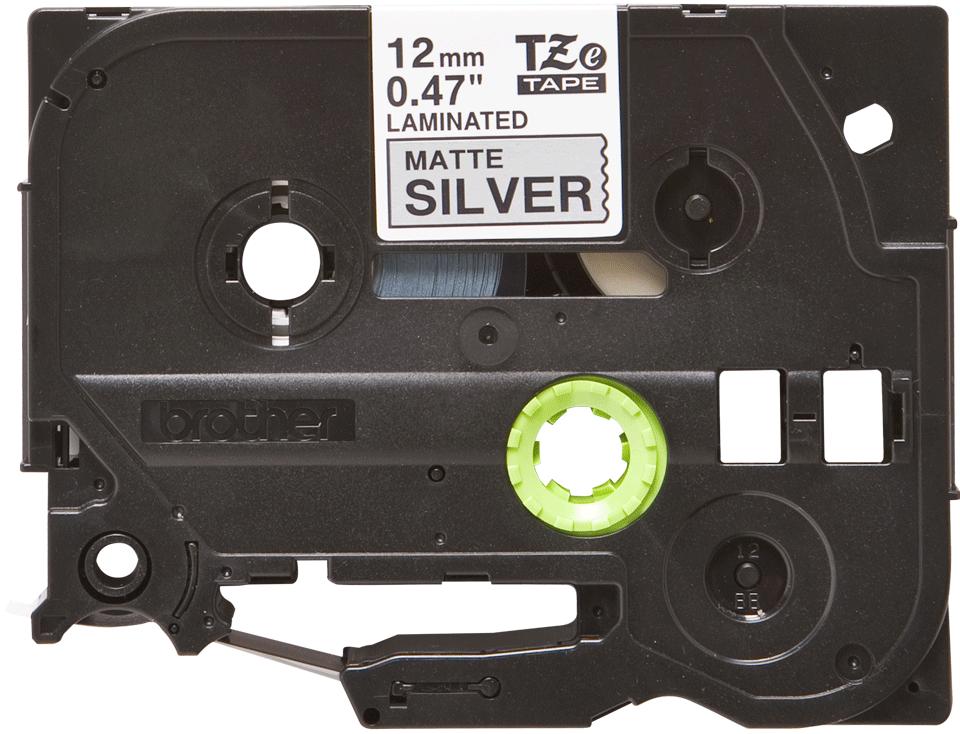 Brother TZe-M931 Schriftband – schwarz auf silber (matt)