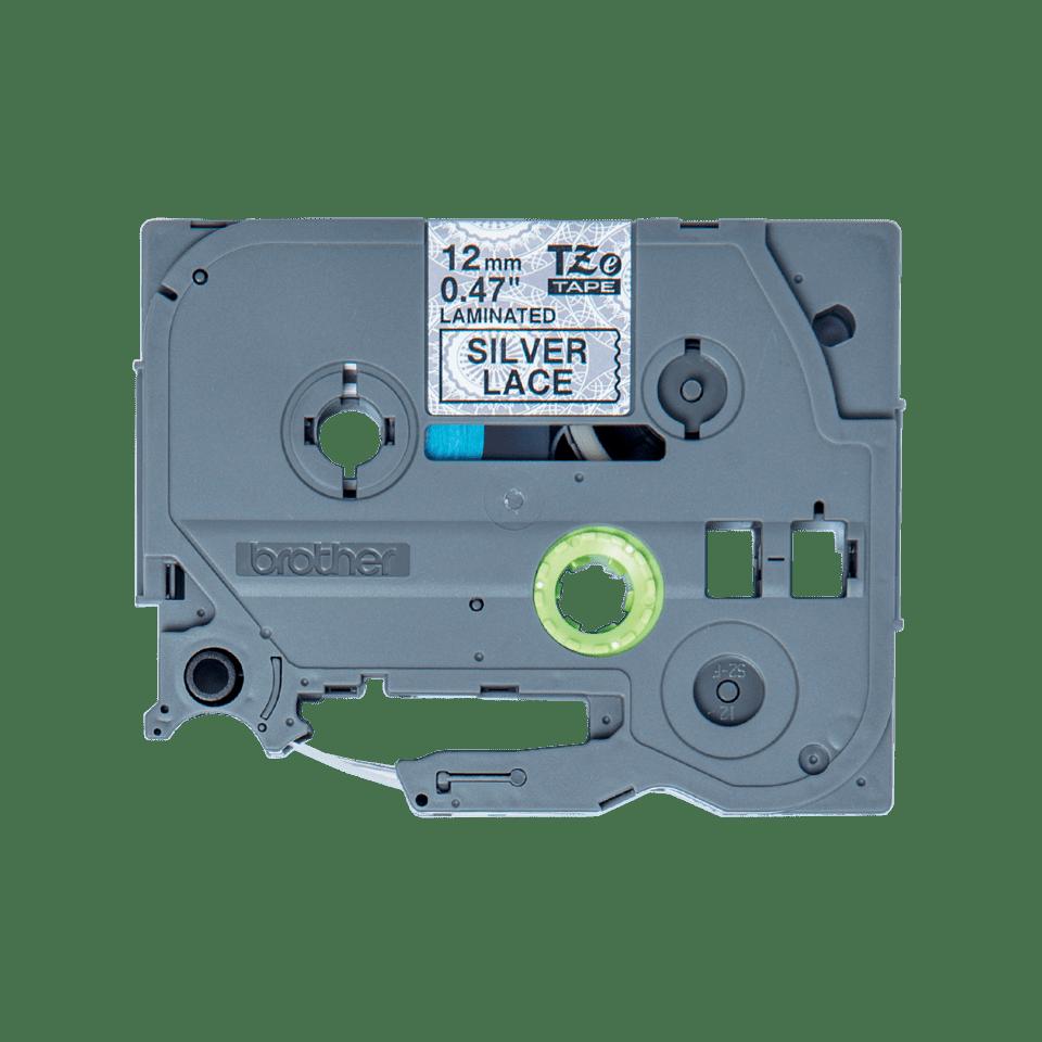 Brother TZe-MPSL31 Schriftband – schwarz auf silbernen Spitzen