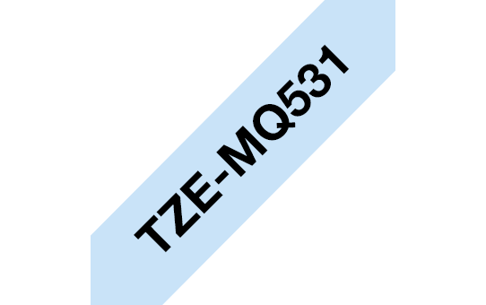Brother TZe-MQ531 Schriftband – schwarz auf pastell blau 2