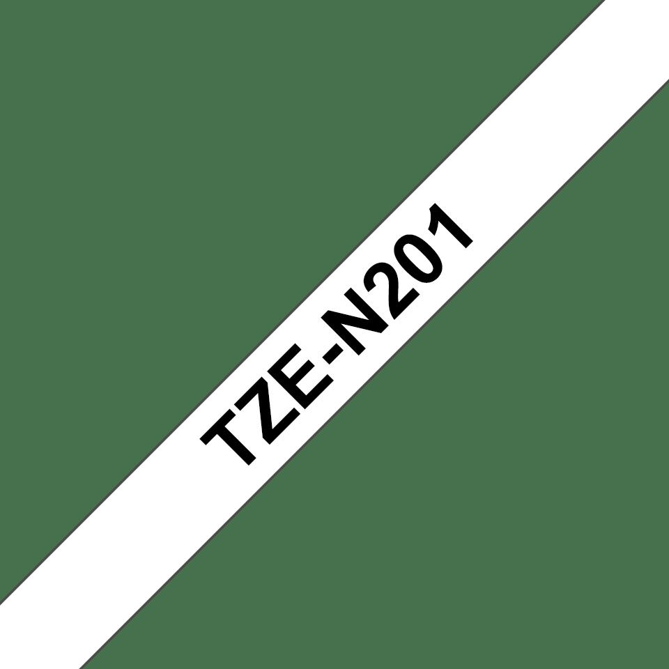 Brother TZe-N201 Schriftband – schwarz auf weiß 2