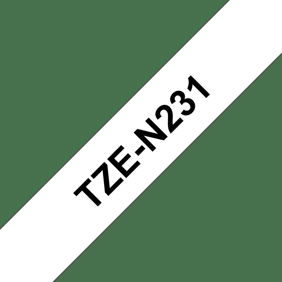 Brother TZe-N231 Schriftband – schwarz auf weiß 2