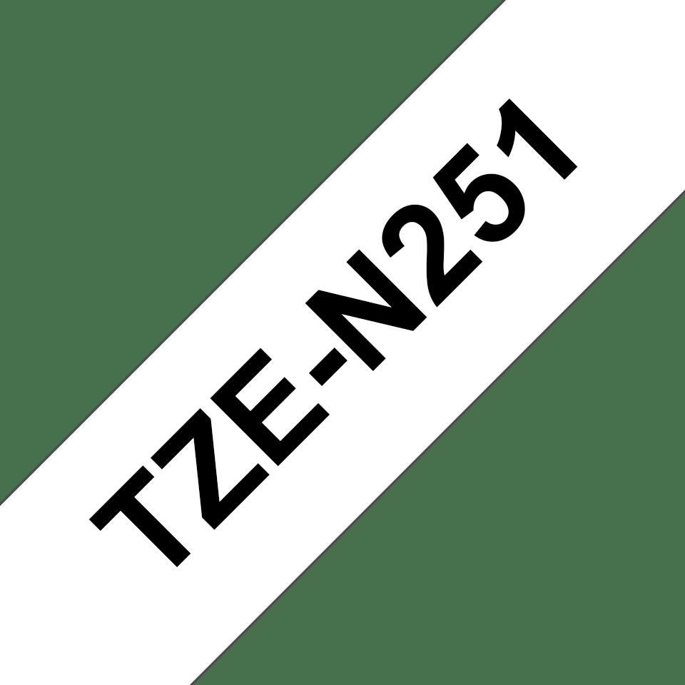 Brother TZe-N251 Schriftband – schwarz auf weiß 2