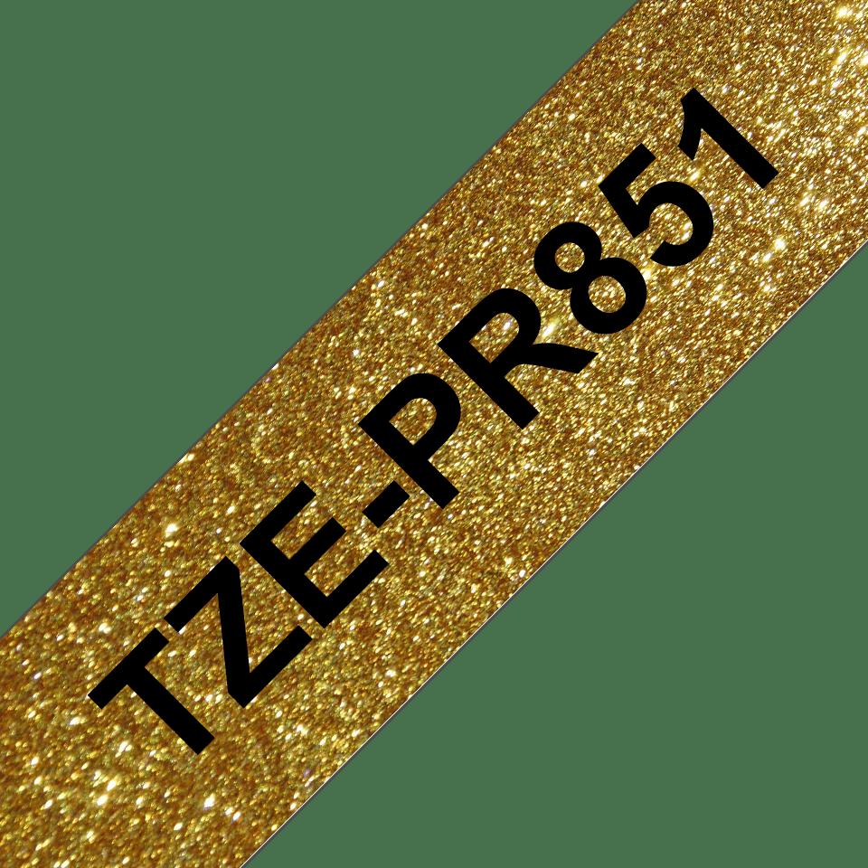 Brother TZe-PR851 Schriftband – schwarz auf premium-gold 3