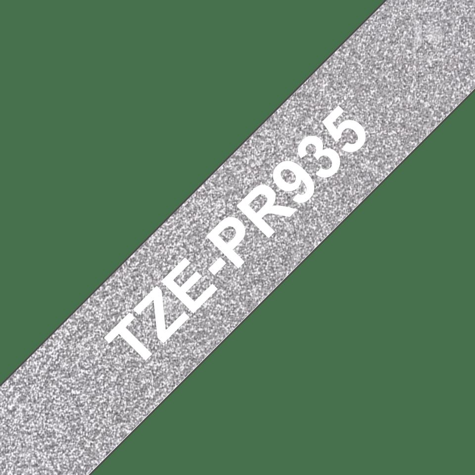 Brother TZe-PR935 Schriftband – weiß auf premium-silber 3