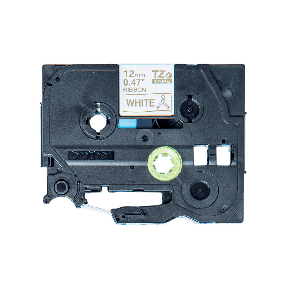 Brother TZe-R234 Textilband – gold auf weiß 3