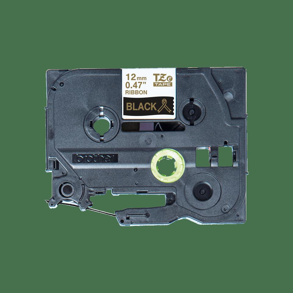 Brother TZe-R334 Textilband – gold auf schwarz