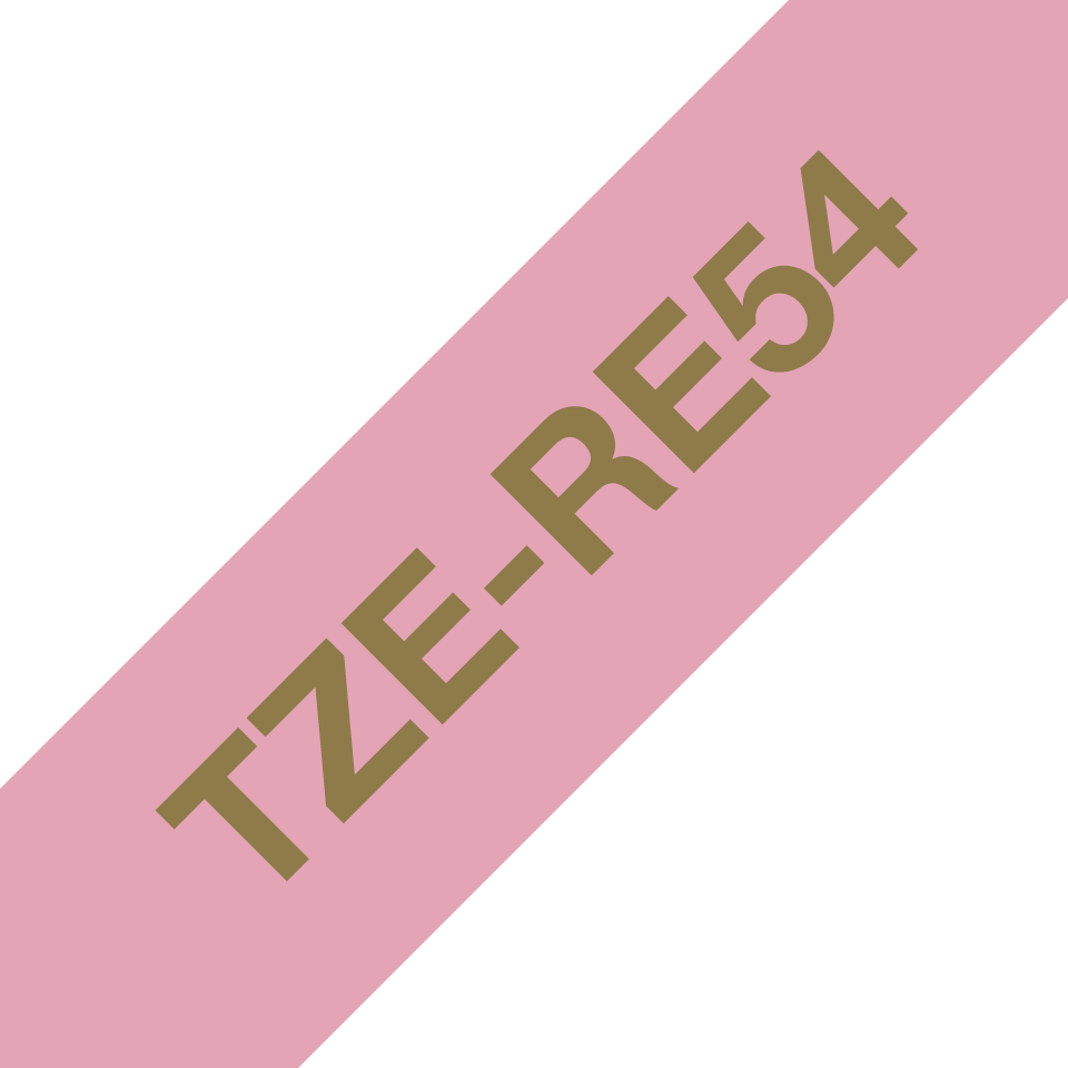 Brother TZe-RE54 Textilband – gold auf rosa 3