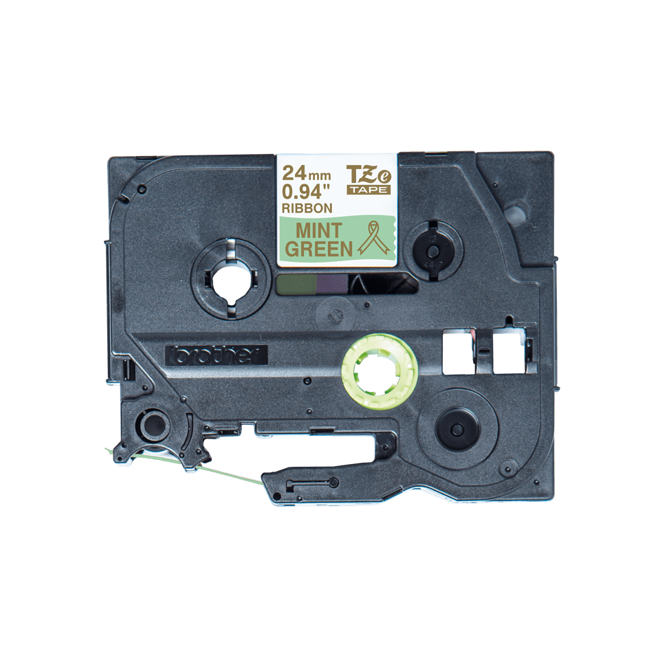 Brother TZe-RM54 Textilband – gold auf mintgrün