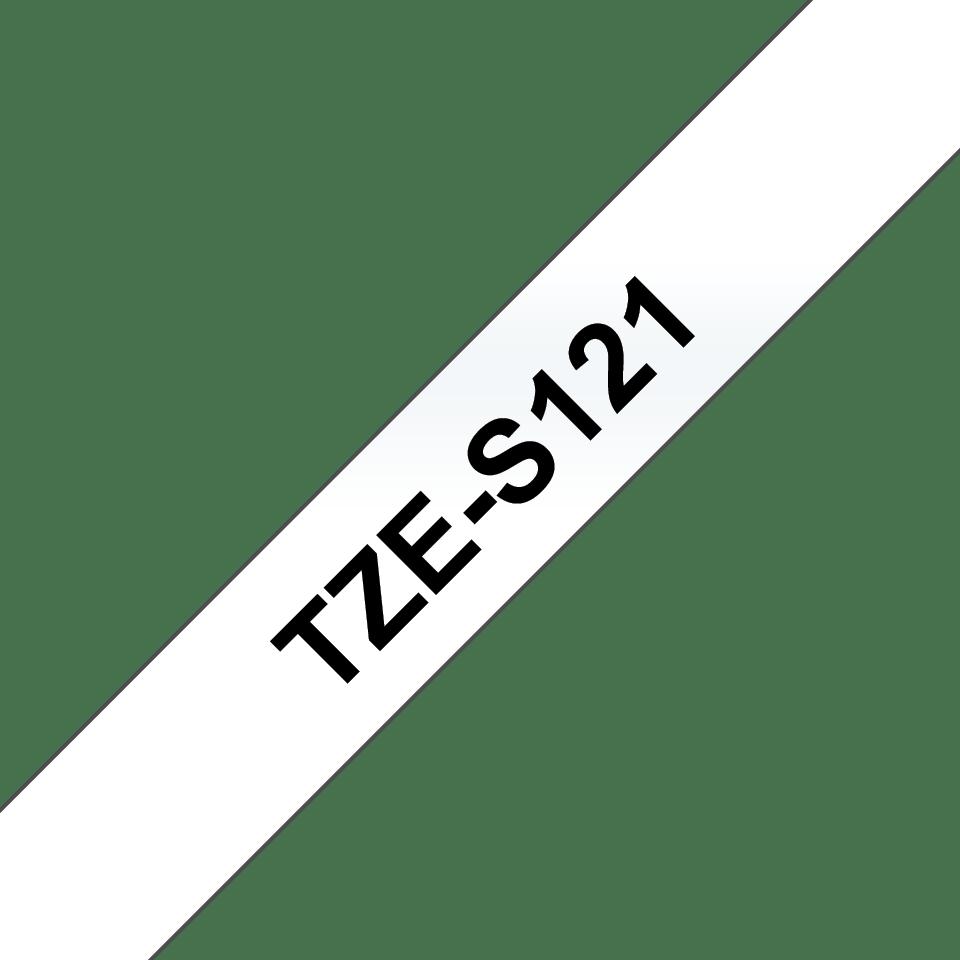Brother TZe-S121 Schriftband – schwarz auf transparent 3