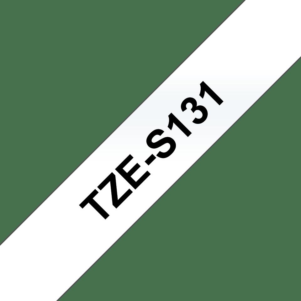 Brother TZe-S131 Schriftband – schwarz auf transparent 2