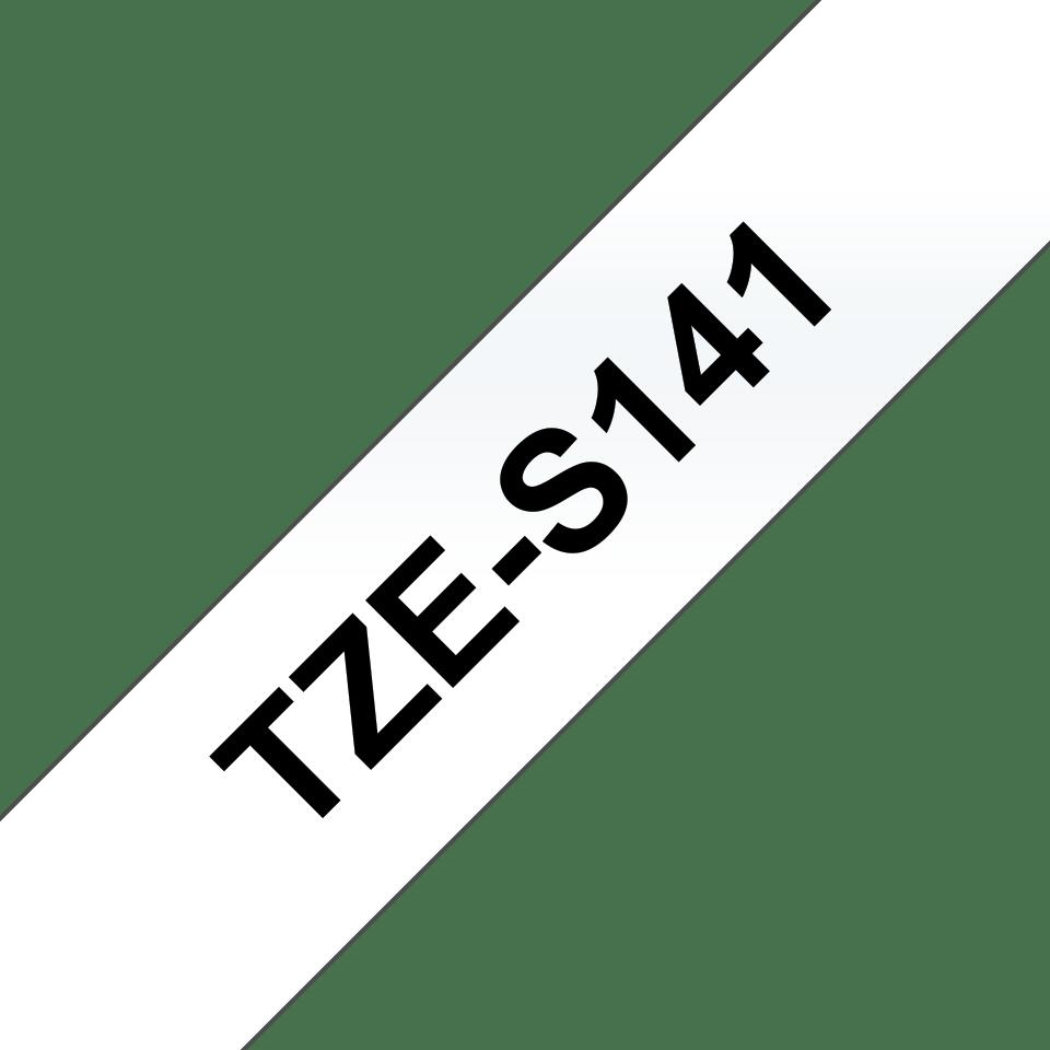 Brother TZe-S141 Schriftband – schwarz auf transparent 3