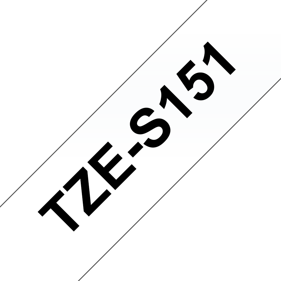 Brother TZe-S151 Schriftband – schwarz auf transparent 2
