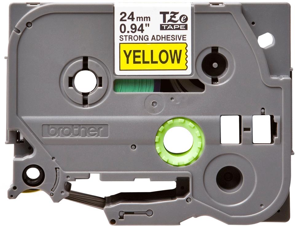 Brother TZe-S651 Schriftband – schwarz auf gelb 3