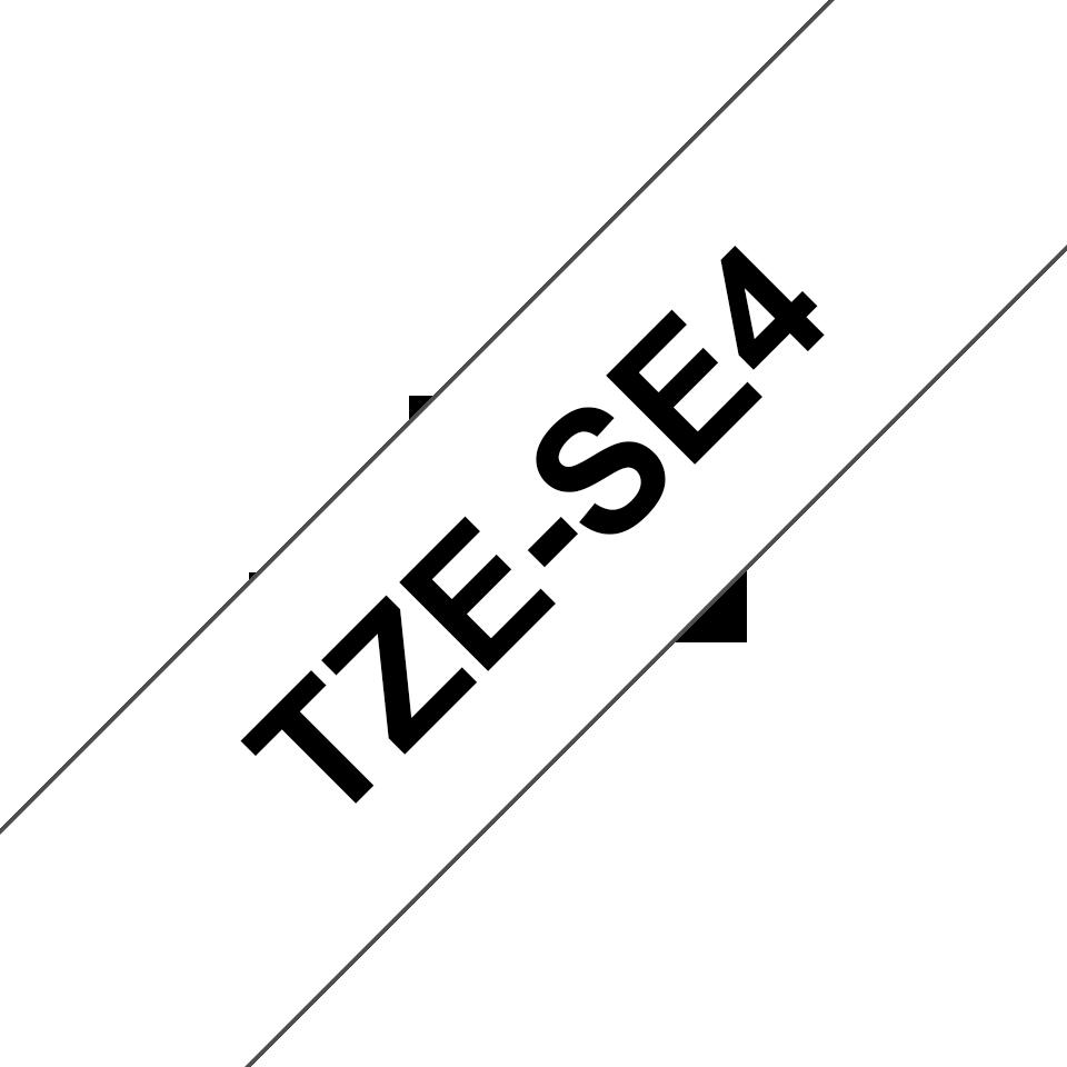 Brother TZe-SE4 Schriftband – schwarz auf weiß 2