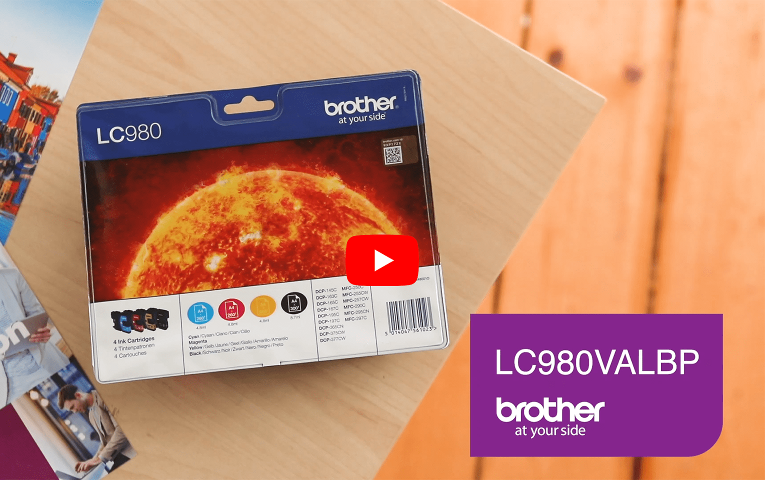 Original Brother LC-980 Value Pack 5