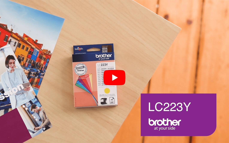 Brother LC-223Y Tintenpatrone – Gelb 5
