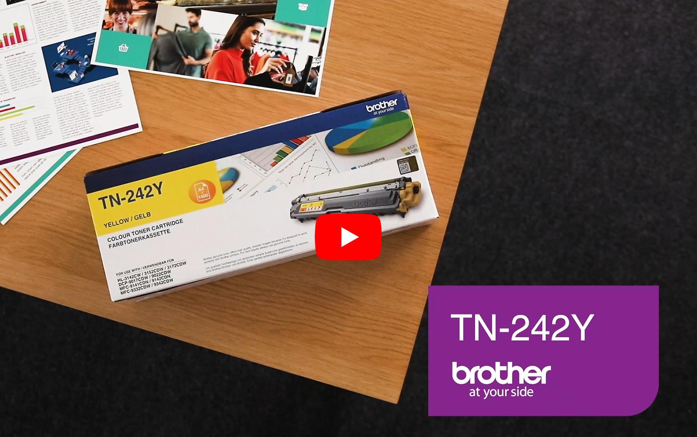 Brother TN-242Y Tonerkartusche – Gelb 5